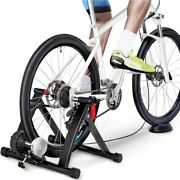 Magnetic Bike Trainer Stand W/6 Speed Level For Indoor Stationary Exerciseblack