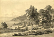 Admiral Sir Charles Burrard, Noirmont Point, Jersey –early 19th-century Painting