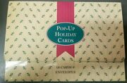15 Vintage Pop-up Holiday Christmas Cards + Box + Envelopes