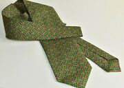 175 New W Tags Bvlgari Calici Tie Silk Green Pink Red Goblets Christmas Gift