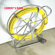 New 10mm150m Fish Tape Fiberglass Wire Cable Running Rod Duct Puller