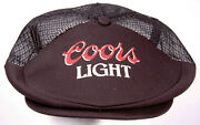 Vtg Coors Light Cabbie/driver Hat-mesh-snapback-black-colorado Beer-80and039s