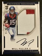 Will Fuller V 2016 National Treasures Football Rpa Rookie Patch Auto /99 Texans