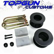 For 05-20 Ford F250 F350 Super Duty 3 Front + 1 Rear Lift Kit + Bump Stop Drop