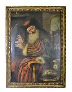 Oil On Canvas Painting Antique Old Master Spanish Circa 19th Century
