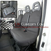 Citroen Relay 2018 On Tailored And Waterproof Front Seat Covers Black 380