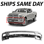 New Chrome Steel Front Bumper Bar For 2016-2018 Ram 2500 3500 W/ Fog And W/ Park