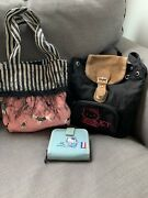 Vintage 90's French Hello Kitty Wallet And Black Backpack + Bonus French Purse