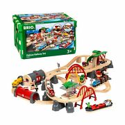 Brio World 33052 Deluxe Railway Wooden Play Toy Train Set Kids Fun Age 3 Up New