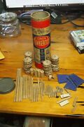 Vintage Tinkertoy Junior – Tube With Toy Pieces