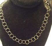 Nifty 925 Gold/sterling Open Link Infinity Circle Necklace 24 L 5 Grams