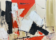 Charles Ragland Bunnell American 1897-1968 Oil On Board Abstract Painting