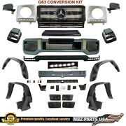 G63 Conversion Amg Body Kit Bumpers Flares Led Lip Grille Mirror Signal