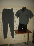 Menand039s 1950and039s-60and039s Styled Designer Tailored Gray Casual Walking Suit W/shirt Jac