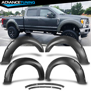 Fits 17-20 Ford F250 F350 Superduty Pocket Style Smooth Unpainted Fender Flares