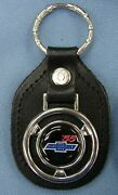 Vintage '55 Chevy Bow Tie Steering Wheel Black Leather 1955 Chevrolet Key Ring
