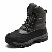Nortiv 8 Menand039s Ankle Insulated Waterproof Winter Outdoor Hiking Snow Ski Boots