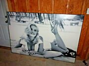 Rare Anna Nicole Smith Large Guess Store Display Picture 1991 6 X 4 Feet