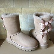 Ugg Bailey Bow Ii Arroyo Water-resistant Suede Short Boots Size Us 7 Womens