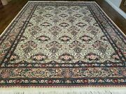 9' X 12' Hand Made Chinese Oriental Wool Rug Organic Ivory Hand Knotted Bird