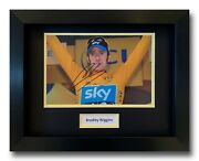 Bradley Wiggins Hand Signed Framed Photo Display - Tour De France Autograph 2.