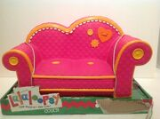 Lalaloopsy Couch Loveseat Pink With Orange Trim Couch Fits 2 Full Size Dolls