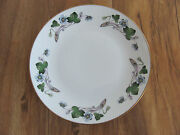 Hackefors Porslin-anemone Hepatica-blue Violets-salad/luncheon Plates-12 Avail