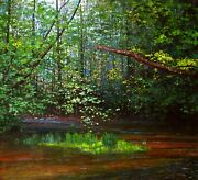 Whitemanand039s Creek - Original Oil Painting By Canadian Artist Chris Morton
