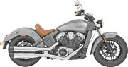 Freedom 4 Liberty Slip-on Exhaust Chrome W/black Tips Indian Scout 2015-2019