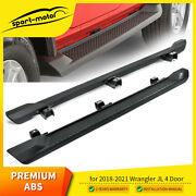 Running Boards Nerf Bars Side Step Fit 2018-2021 Jeep Wrangler Jl 4d 6 Oe Style