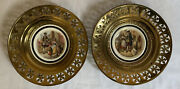 Set Of 2 Beautiful Antique Regency Bone China Made In England Wall Plates