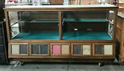 Oak Country / General Store Showcase And Humidor Sherer Seed Cabinet / Counter