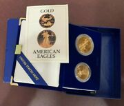 1987 U.s. Eagel Gold Bullion One And One Half Ounce Coins Proof W/box And Coa Set
