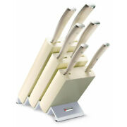 New Wusthof Ikon Classic Creme 7pc Knife Block Set 7 Piece   Made In Germany