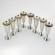 Randahl 8 Cordial Cups Set Sterling Silver Chicago Boxed