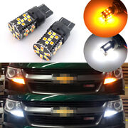 No Resistor Switchback Front Turn Light Led Bulbs For 2015-up Chevrolet Colorado