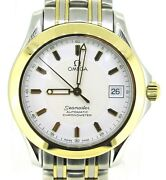 Omega Seamaster Automatic Chronometer 18k Gold And Stainless Steel Watch 36 Mm