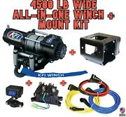 4500 Lb Wide Kfi Winch/mount Combo - And03918-19 Polaris Turbo Rzr Rs1