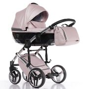 Limited Junama Diamond Fluo Line Black+pink Eco-leather Buggy Stroller Pushchair