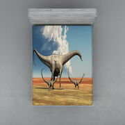 Dinosaurs Pattern Fitted Sheet Cover With All-round Elastic Pocket In 4 Sizes