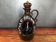 Vintage Ceramic Little Brown Jug Music Box How Dry I Am Whiskey Decanter