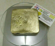 799 Grams Scrap Gold 1 Big Bar For Gold Recovery Melted Different Computer Pins