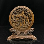 8 Chinese Old Antique Boxwood Wooden Handcarved Fish Dragon Door Table Screen