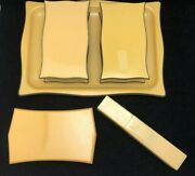Vintage Tusculor Celluloid Vanity Items - Tray, Dresser Boxes