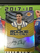 2017-18 Auto Panini Totally Certified Gold Lonzo Ball Rc Auto Short Print Andnbsp