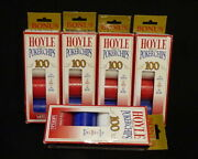 4 Pk Of 100 Hoyle Official Poker Chips Ea. Pk+free 92 Extra Chips-read Condition