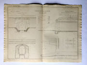 Imperial Russian Railways Construction Plan 7 Plates Gscfr Pereire 1860 Scarce