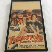 Tombstone Tough Die Movie Lobby Card Window Size Paramount 1944 Vintage Framed