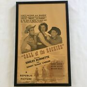 Call Of The Rockies Movie Lobby Card Window Size Republic 1944 Vintage Framed