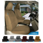 Seat Covers Polycotton Drill For Fiat 500 Custom Fit
